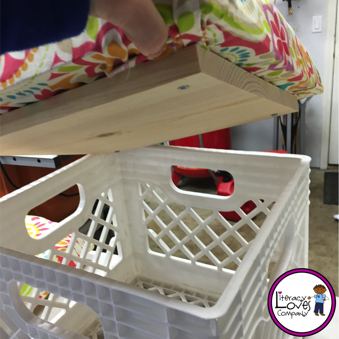 Classroom Decor Diy ~ Literacy loves company classroom diy crate seats