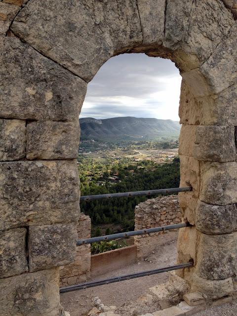ventanas desde el castillo de Xátiva