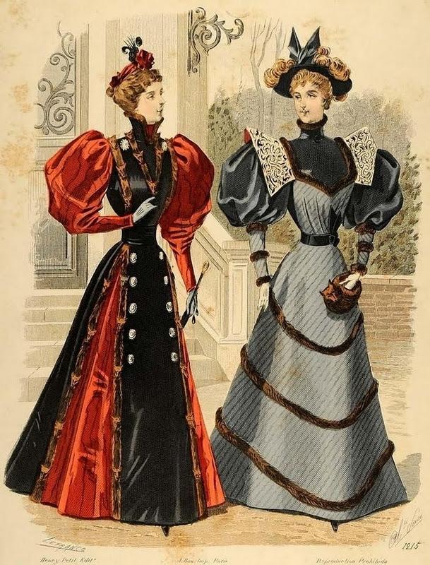 Gravure de mode 1895