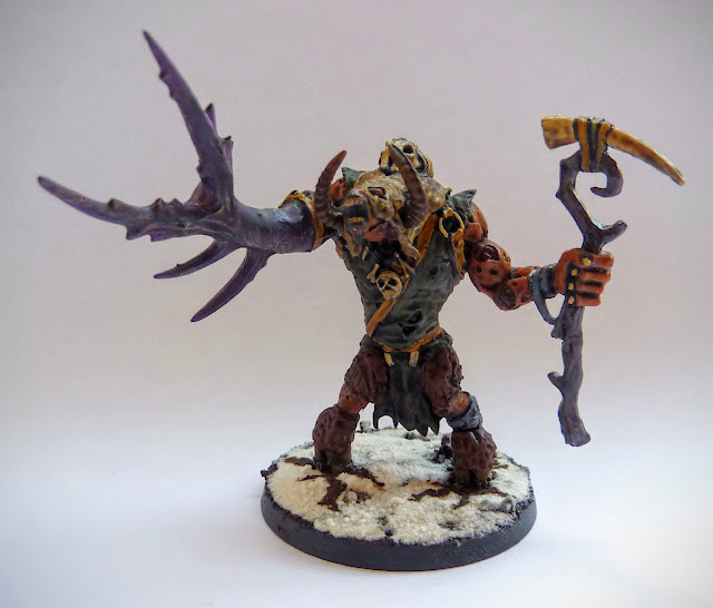 A conversion for Morghur, Master of Skulls for Warhammer Age of Sigmar.