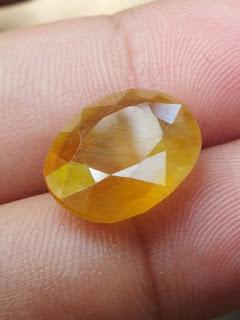 yellow sapphire corundum