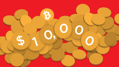 Bitcoin Price hits $10,000