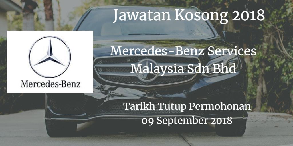 Jawatan Kosong Mercedes-Benz Services Malaysia Sdn Bhd 09 September 2018
