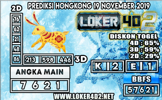 PREDIKSI TOGEL HONGKONG POOLS LOKER4D2 19 NOVEMBER 2019