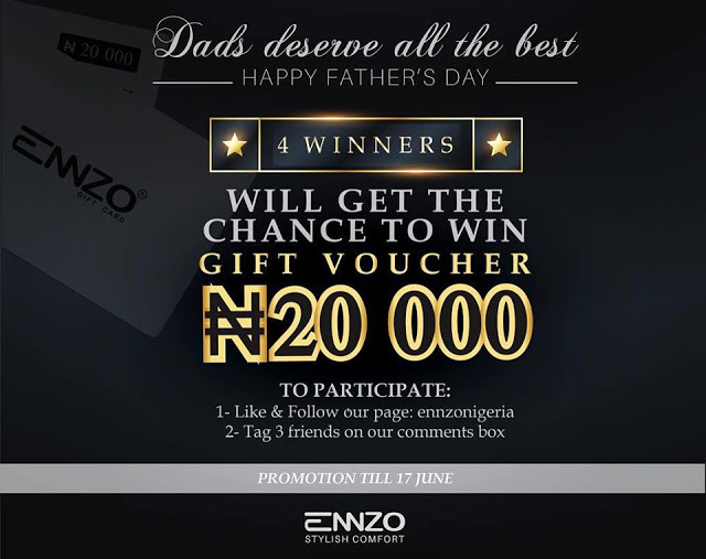 Enzo Nigerian Father's Day Giveaway,Win Upto 20,000 Naira