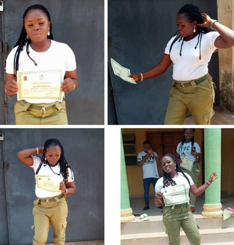 Female Corper Wrongly Accused Of Electoral Fraud Is Free... Receives Her Certificate