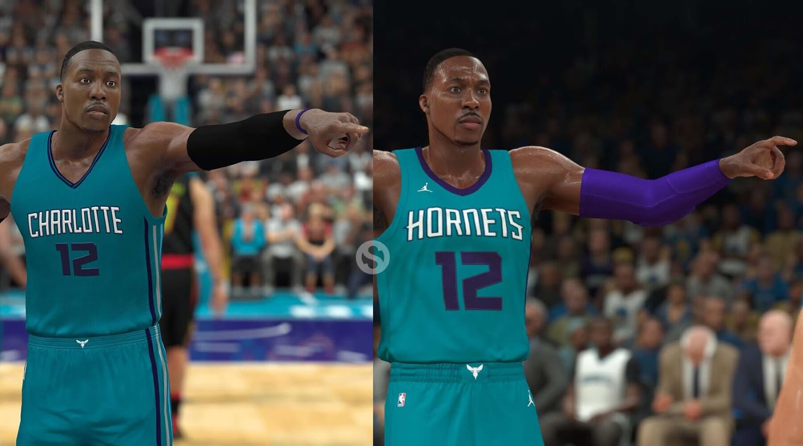 NBA 2k18 NBA 2k17 Screenshot Comparison - Dwight Howard