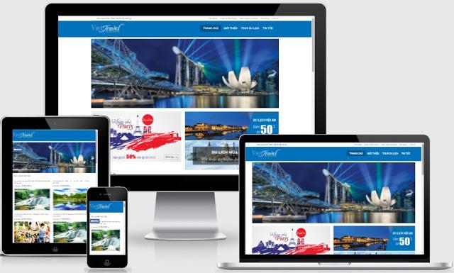 Templates blogspot bán hàng cho dịch vụ Tour du lịch