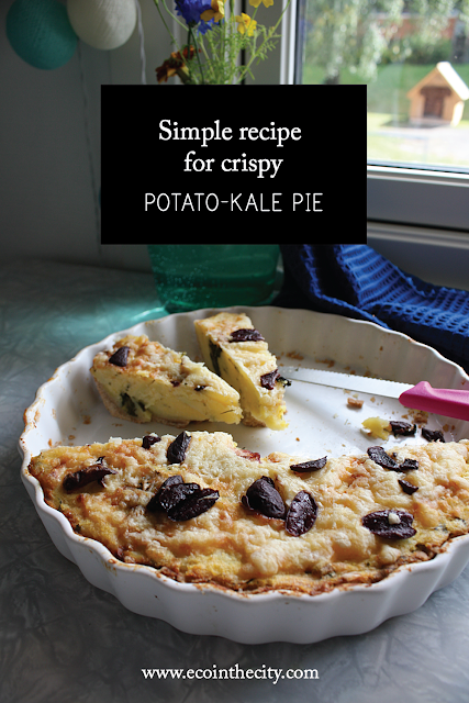 Simple recipe for potato-kale pie