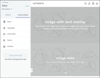 general settings for customize your shopify theme