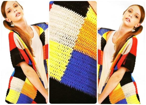 Chaqueta Cuadros Colores patrón