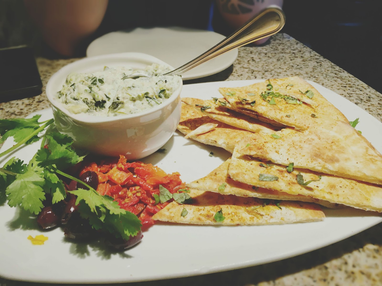 organic spinach dip at Ruggles Green - A restaurant in Houston, Texas