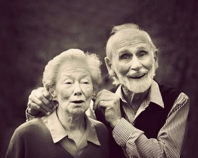 Funny old couple joke picture