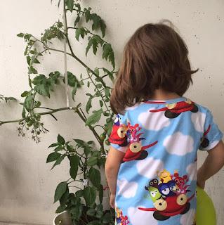 babblarna tomat trikåtyg ekologiskt chili sy babblarnatyg