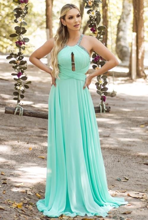vestido tiffany longo esvoaçante