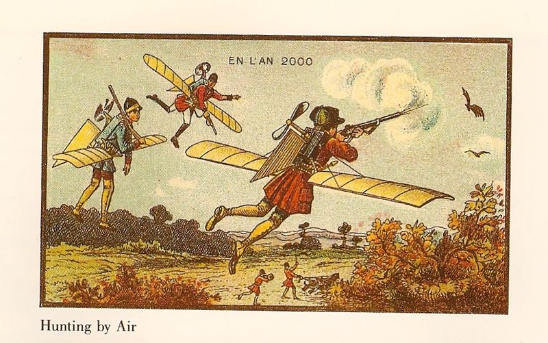 21-Hunting-by-Air-Jean-Marc-Cote-En-L-An-2000-wikimedia-Futurism-with-Illustrated-Postcards-from-the-1900s-www-designstack-co