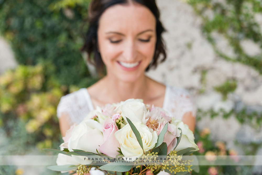 Bride portrait with her bouquet