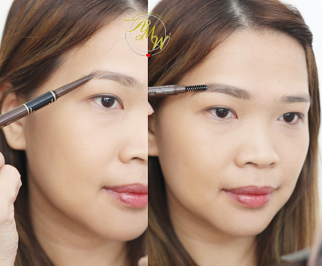 a photo on how to use K-Palette Lasting 3Way Eyebrow Pencil