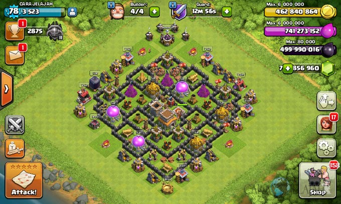 Susunan Formasi Base War TH 8 Update Terbaru 25