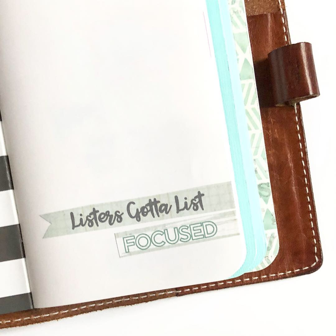 #travelers notebook #listersgottalist #List Challenge #lists #focus #Listers Gotta List #midori #Chic Sparrow #Mr Darcy