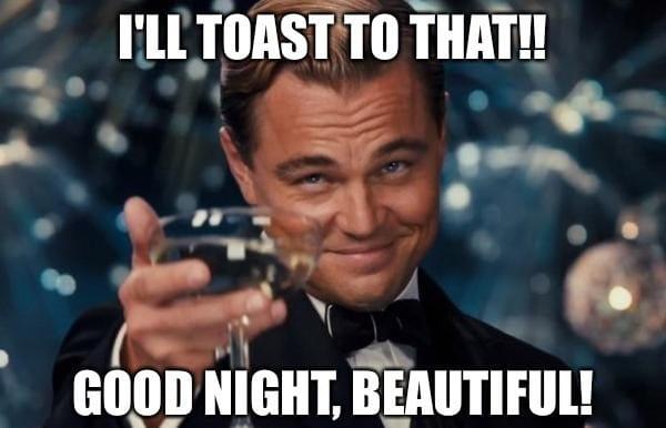 Good Night Beautiful Funny Meme, Image