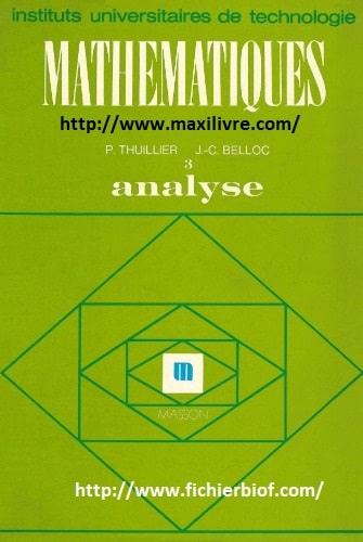 Mathématiques Analyse 3 I- UT