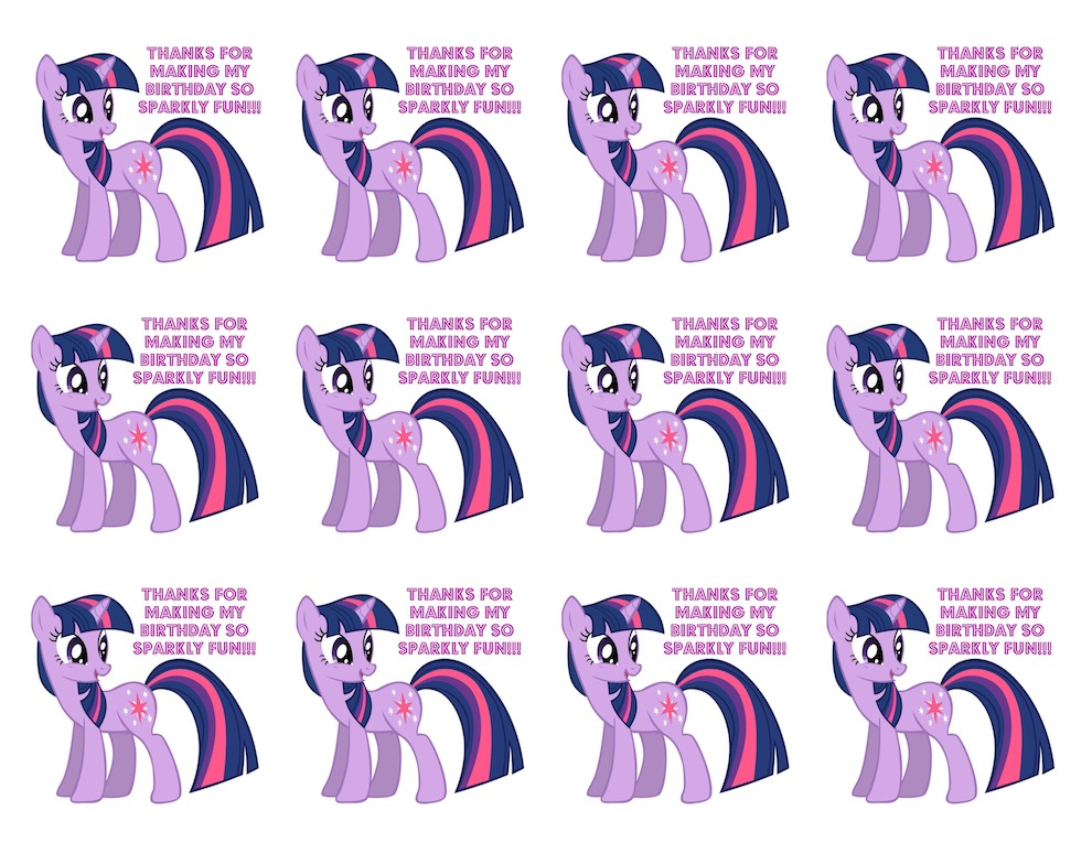 Free Printable My Little Pony Food Labels