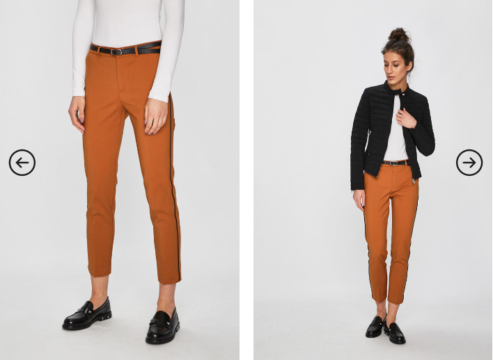 Tally Weijl - Pantaloni maro cu dunga neagra casual-eleganti