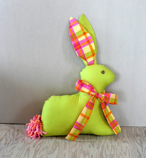 how to sew rabbit, easter bunny sewing project