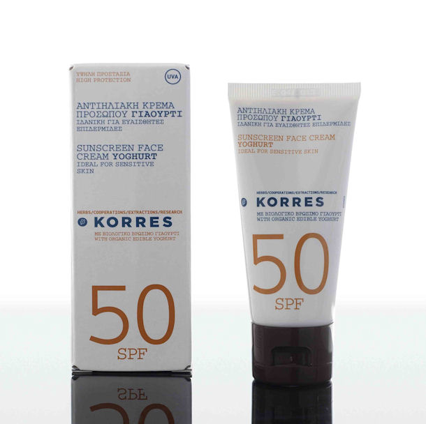 Korres Sunscreen Face Cream Youghurt