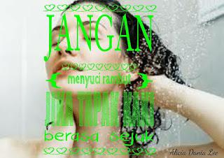 pantang larang waktu haid; jangan basahkan rambut waktu haid;