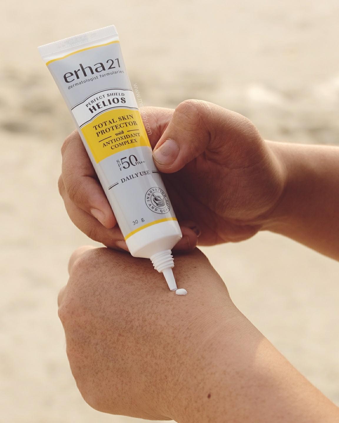 helios daily use sun protection - erha