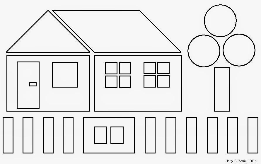 Arte No Paint: Desenho Para Colorir: Casa Geométrica