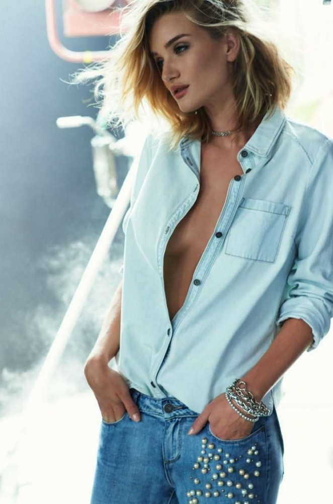 Rosie Huntington-Whiteley is seductive for the Paige Denim Fall/Winter 2015 Campaign