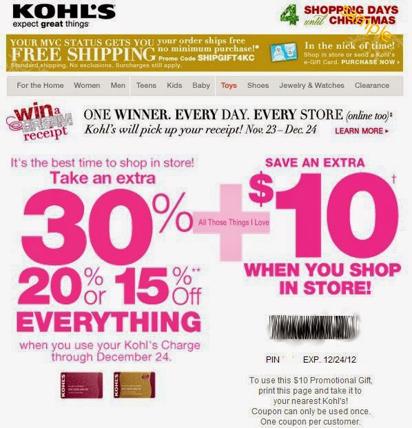 photograph relating to Kohls Coupons Printable known as Kohls discount coupons printable blogspot : Emphasis table coupon codes