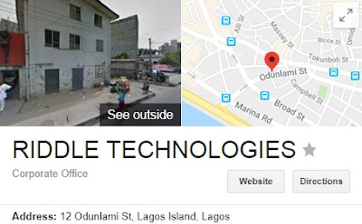 Application Form for Riddle Technologies Limited