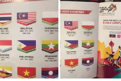 Bendera Indonesia Dicetak Terbalik di Buku Panduan SEAG