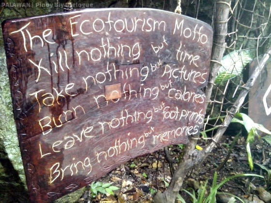 """The Ecotourism Motto"""