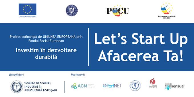 """Proiectul """"Let's Start-up Afacerea Ta"""" prezentat și la Vatra Dornei pe 12 Aprilie 2018"""