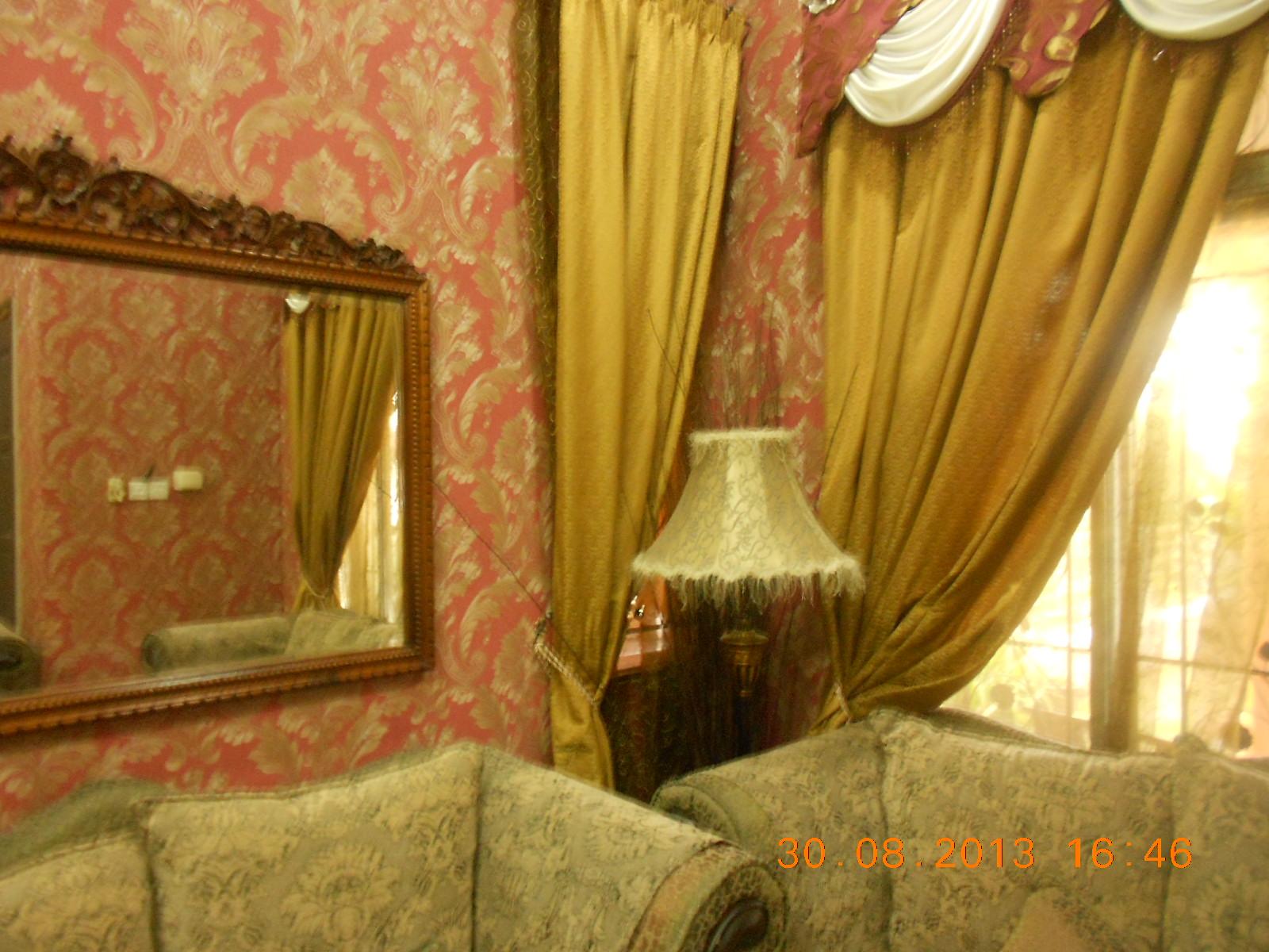 Repair Sofa Shah Alam Indoor Outdoor Sofabord Rumah 3 Tingkat Dengan Wallpaper Mewah Baiti Jannati Deco