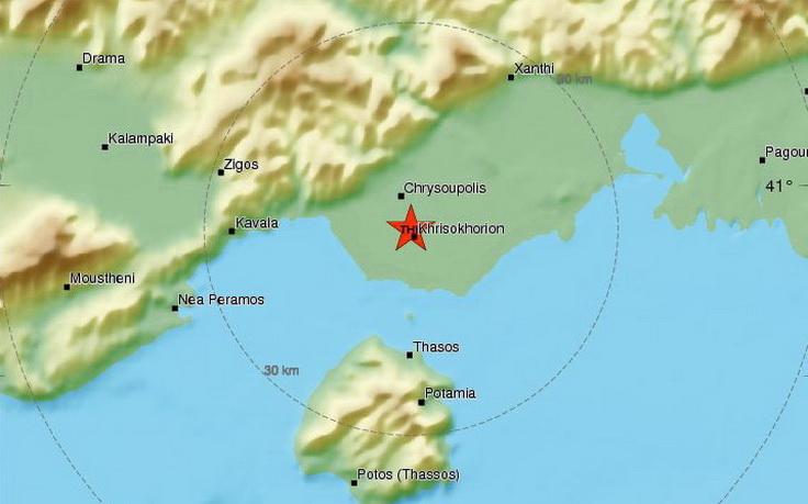 Σεισμός 4 Ρίχτερ στη Χρυσούπολη Καβάλας