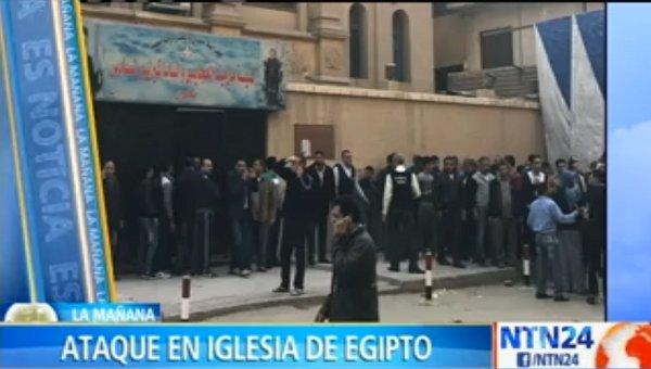 Al menos 10 muertos en ataque de hombre armado a una iglesia en Egipto