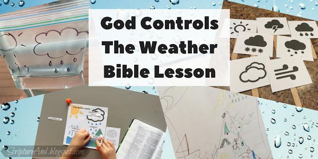 God Controls The Weather Bible Lesson For Kids | scriptureand.blogspot.com