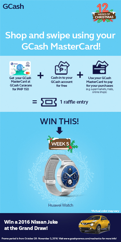 Shop Using GCash MasterCard and Get a Chance to Win A Huawei