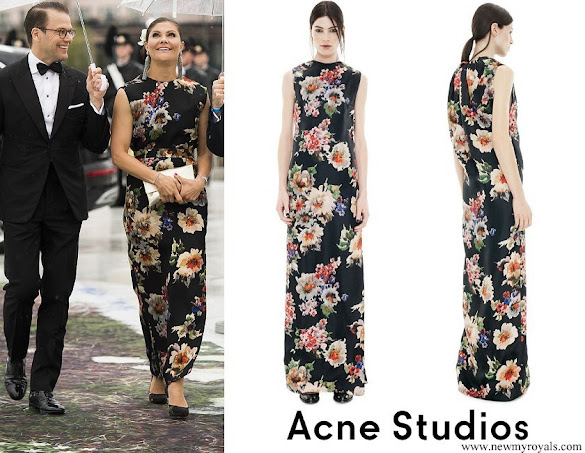 Crown Princess Victoria wore Acne Palm Gazare Dress