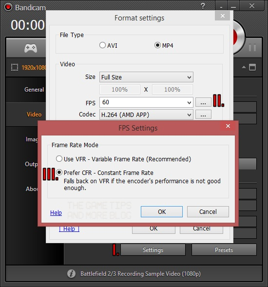 The Game Tips And More Blog: Quick Tip: Bandicam Releases CFR ...