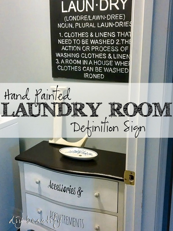 How to Paint a Laundry Definition Sign | DIY beautify