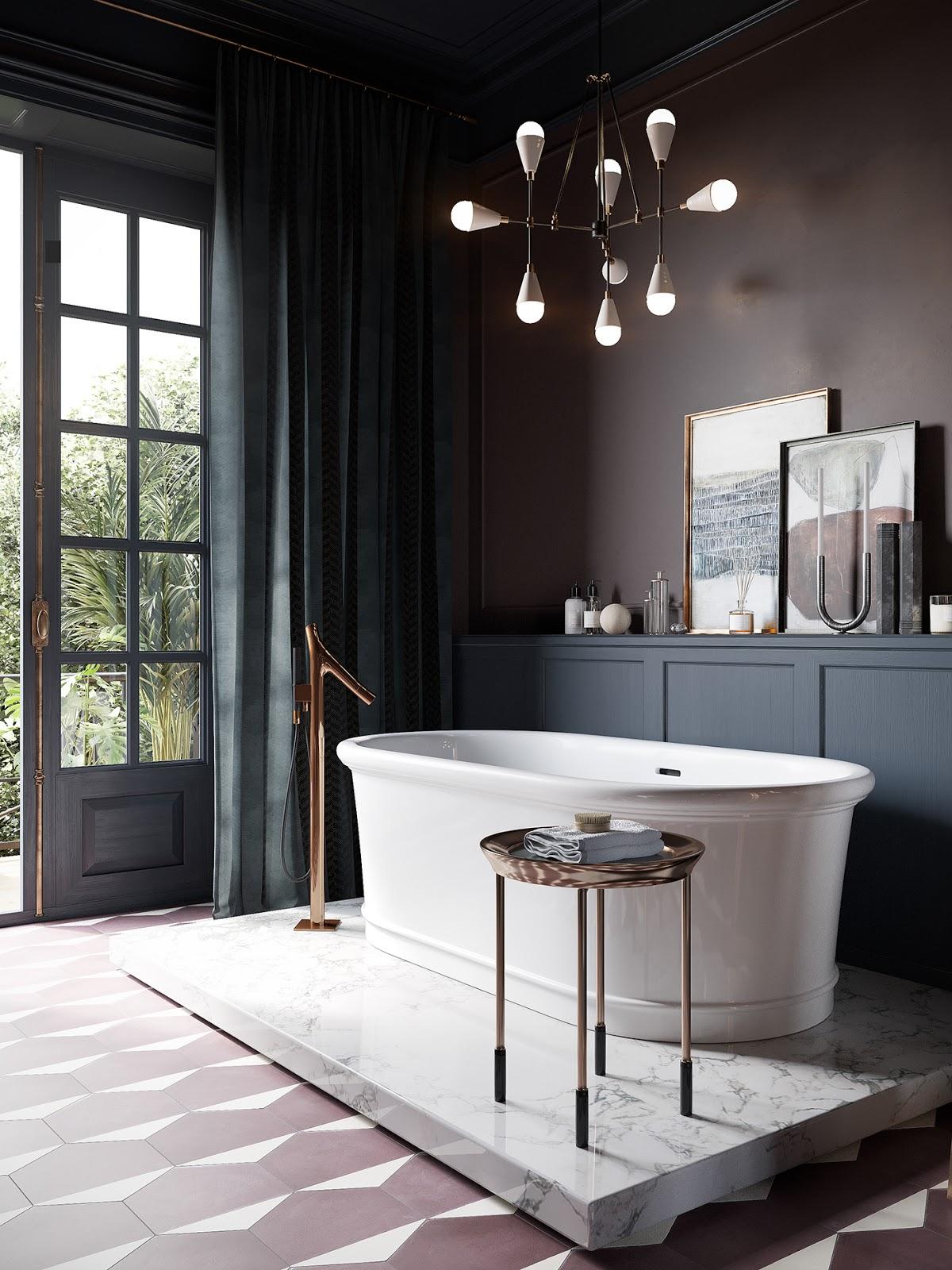 la plus chic des salles de bains. Black Bedroom Furniture Sets. Home Design Ideas
