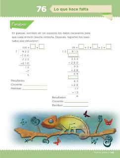 Apoyo Primaria Desafíos Matemáticos 4to. Grado Bloque IV Lección 76 Lo que hace falta