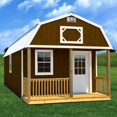 Sweatsville: 12' x 24' Lofted Barn Cabin in SketchUp